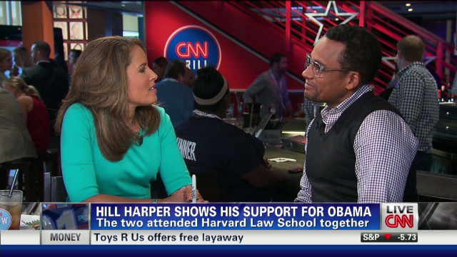 Hill Harper on the road for Obama