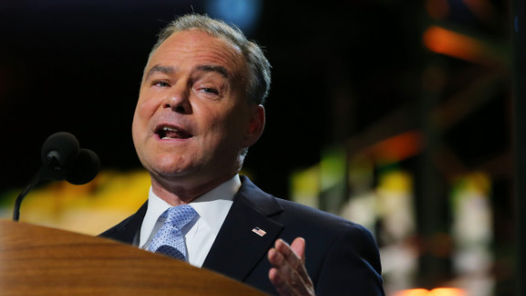CHARLOTTE, NC - SEPTEMBER 04:  Candidate for the US Senate, Virginia former Virginia Gov. Tim Kaine speaks during day one of the Democratic National Convention at Time Warner Cable Arena on September 4, 2012 in Charlotte, North Carolina. The DNC that will run through September 7, will nominate U.S. President Barack Obama as the Democratic presidential candidate.  (Photo by Joe Raedle/Getty Images)