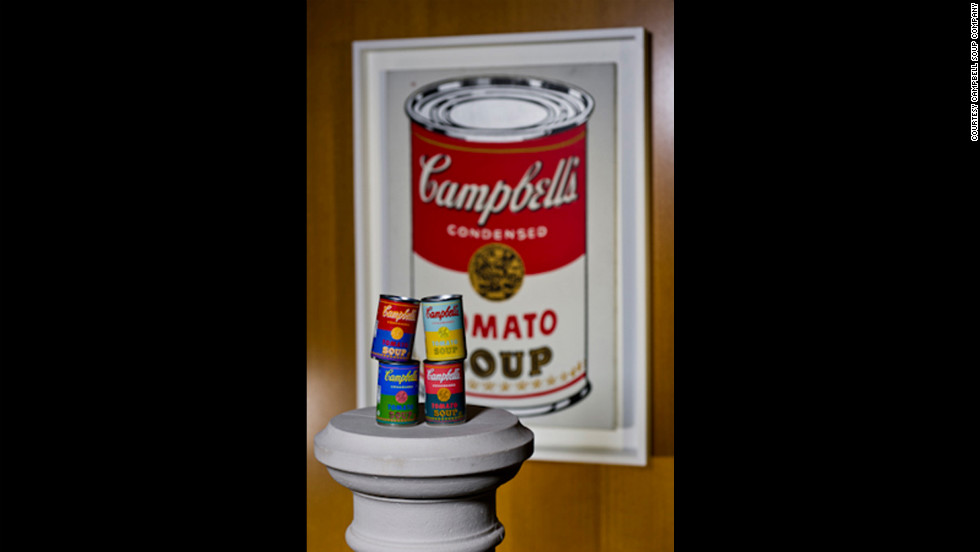 Campbell's has produced four specially-designed labels reflecting Warhol's pop art style.