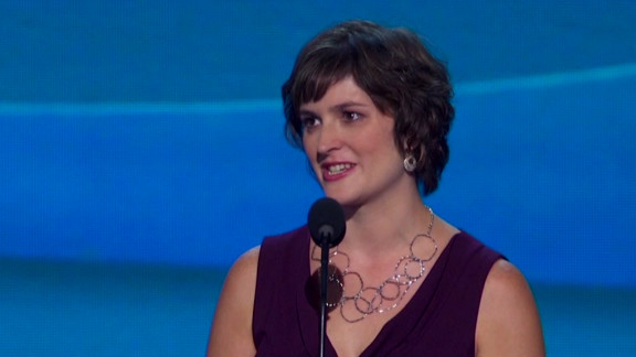 Sandra Fluke speaks at the Democratic National Convention. The conservative blogosphere went mad, David Frum says.