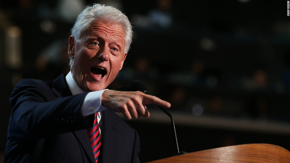 Bill Clinton formally nominates President Barack Obama for a second term in his highly anticipated speech.