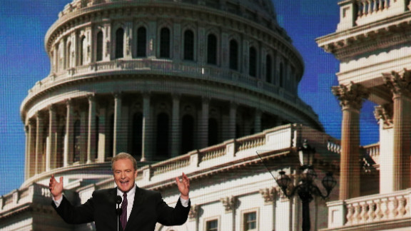 U.S. Rep. Chris Van Hollen of Maryland speaks on day two of the DNC.