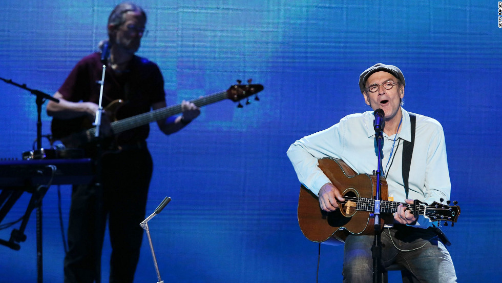 "Singer/songwriter James Taylor performed several of his hit songs, including ""Carolina in my Mind,"" and ""How Sweet it is"" Thursday."