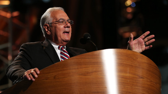 U.S. Rep. Barney Frank of Massachusetts takes the stage on Thursday.