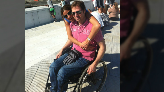 Knut Olstad, who is paralyzed from the waist down, said he was able to regain some feeling after participating in a stem cell trial.