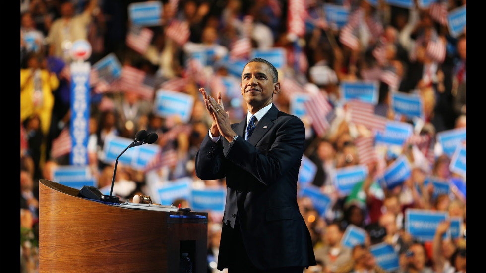 U.S. President Barack Obama accepts the Democratic Party's nomination on Thursday.