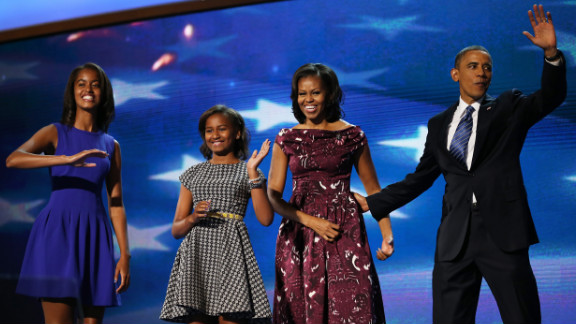 The Obama family takes to the stage as the gathering draws to a close on Thursday, September 6, the final day of the Democratic National Convention in Charlotte, North Carolina. See the best photos from the Republican National Convention.