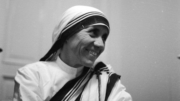 A 1960 portrait of Mother Teresa, the Albanian nun who dedicated her life to the poor, the destitute and the sick of Calcutta, India (later called Kolkata).