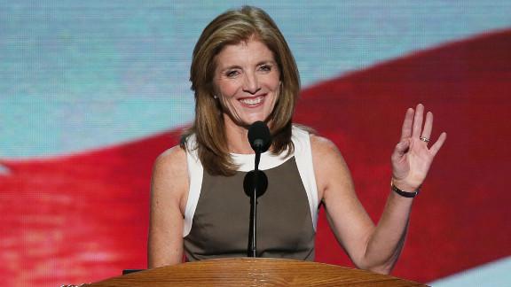 Caroline Kennedy speaks to the delegates on Thursday.