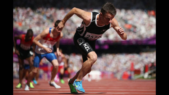 Tim Prendergast of New Zealand competes in the men