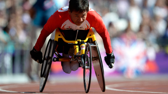 Toshihiro Takada of Japan competes in the men
