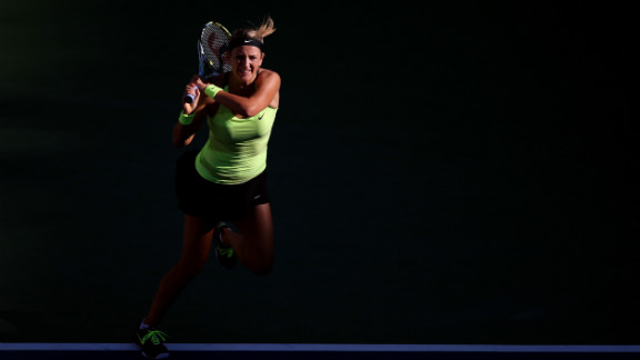 Azarenka emerges from the shadows.