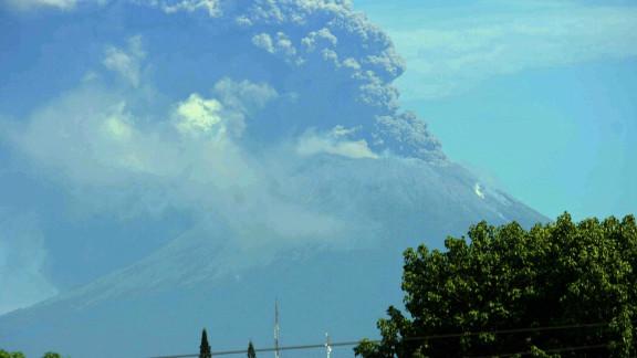 San Cristobal volcano erupts in Chinandega, around 130 kilometers from Managua, Nicaragua, on Saturday.