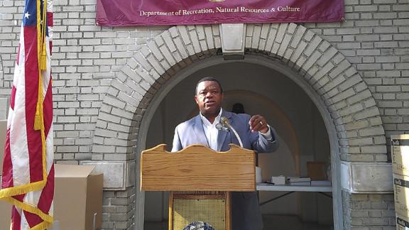 Mayor Tony Mack speaks in Trenton, New Jersey, in August.