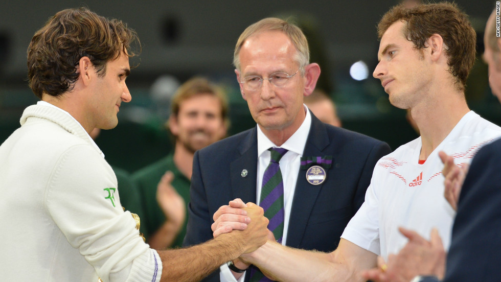 Murray's fourth attempt to win a grand slam final got off to the perfect start at Wimbledon in July as he took the opening set 6-4 against Federer. But the Swiss champion fought back to win the next three sets, dashing British hopes of a first men's grand slam title since 1936.