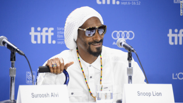 Snoop Lion told press at the Toronto International Film Festival that he supports President Barack Obama's bid for re-election.