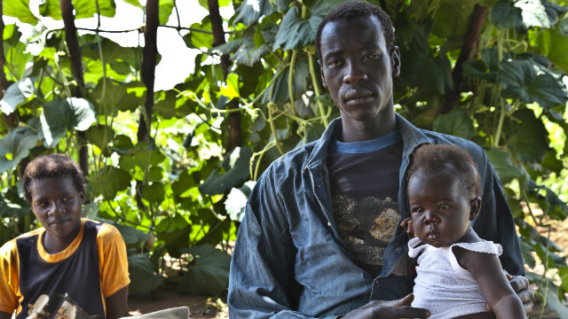 Patrick, a former child soldier, received treatment at a PCAF clinic and was able to care for his family.