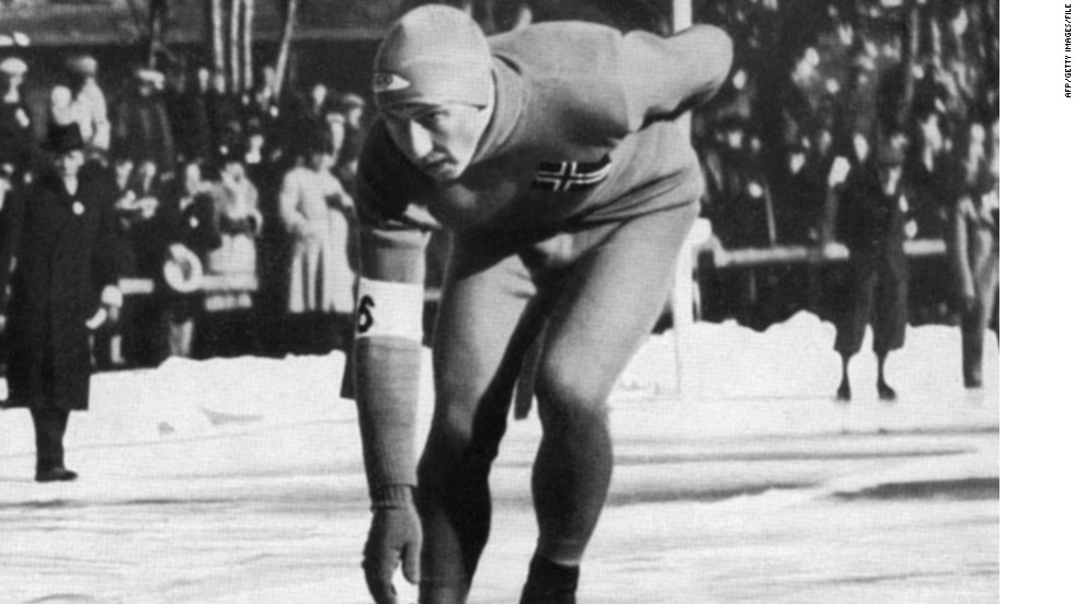 The Winter Olympic Games open on February 6, 1936, in Garmisch-Partenkirchen, Germany. Norwegian Ivar Ballangrud, pictured, won three gold medals (500m, 5000m and 10000m) and one silver medal (1500m) there.