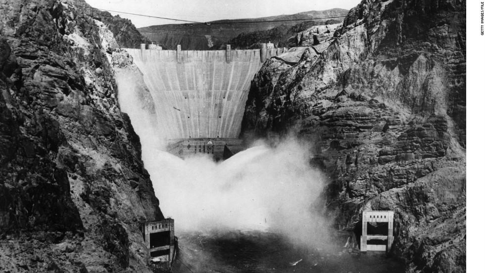 Hoover Dam begins generating electricity on October 9, 1936, harnessing water from the Colorado River for the benefit of Americans as far as Los Angeles.