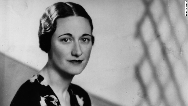 Britain's King Edward VIII tells the nation he has abdicated to marry American socialite and divorcee Wallis Simpson, pictured, on December 11, 1936.