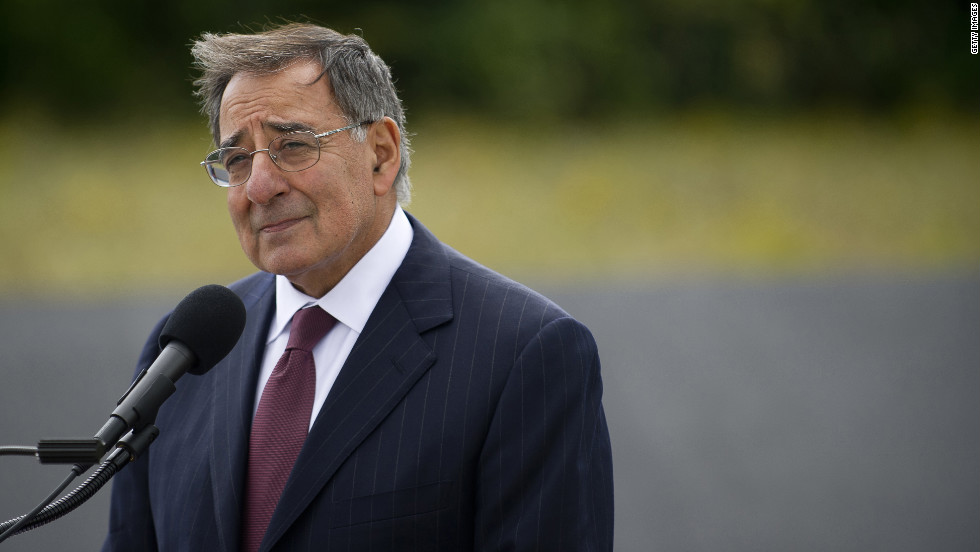 Defense Secretary Leon Panetta speaks during the wreath-laying ceremonies in Shanksville, Pennsylvania.