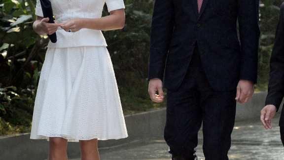 Prince William and Catherine visit Gardens by the Bay on Wednesday.