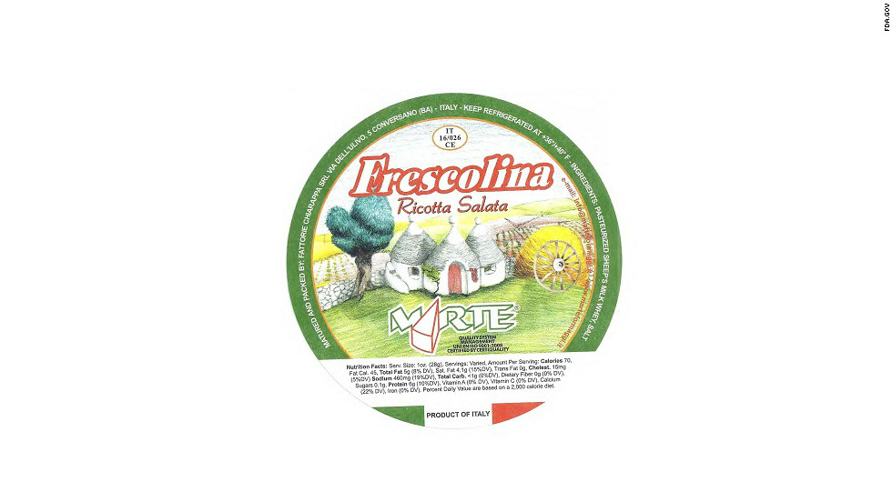 "Twenty-two cases were reported of a Listeria monocytogenes infection from the Frescolina Marte brand of ricotta salata cheese in 2012, but 90% of those people were hospitalized, and four people died, according to the <a href=""http://www.cdc.gov/listeria/outbreaks/cheese-09-12/index.html"" target=""_blank"">CDC</a>."