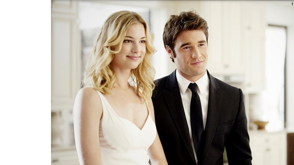 "It's not exactly smooth sailing for Emily and Daniel on ABC's ""Revenge,"" but the actors who play them, Emily VanCamp and Josh Bowman, <a href=""http://www.usmagazine.com/celebrity-news/news/emily-vancamp-dating-revenge-costar-josh-bowman-201473"" target=""_blank"">get along just fine off-screen</a>."