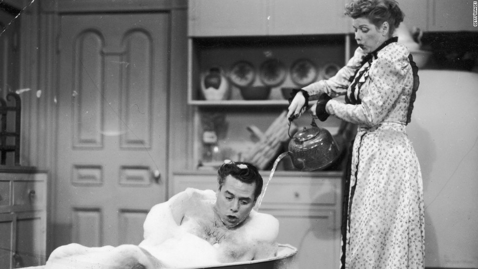 "Ricky Ricardo (Desi Arnaz) spent the better part of CBS' long-running ""I Love Lucy"" scolding his mischievous onscreen wife, played by Lucille Ball. Arnaz and Ball were <a href=""http://www.people.com/people/archive/article/0,,20114475,00.html"" target=""_blank"">married for 20 years</a> and had two children together before divorcing in 1960."