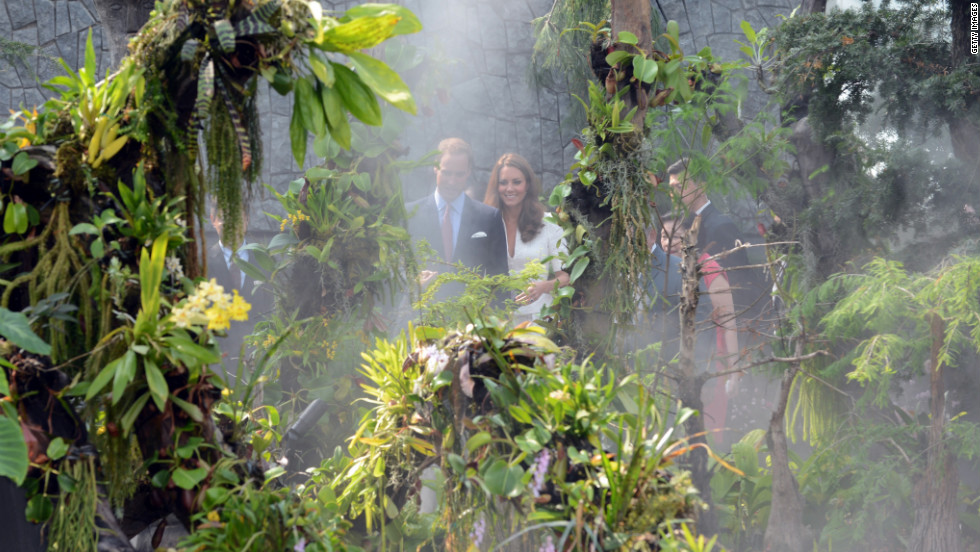 The royal couple visit Gardens by the Bay on Wednesday.