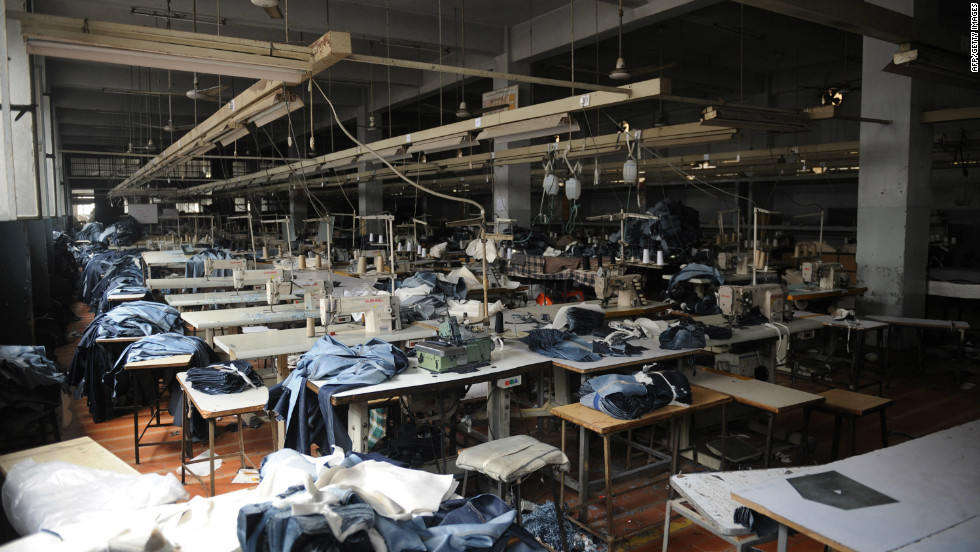 An undamaged area of a garment factory following the fire. All the victims were employees of the factory, said Zakir Khan of the Karachi Fire Department.