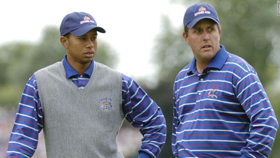 Tiger Woods and Phil Mickelson were paired together by U.S. Ryder Cup captain Hal Sutton in 2004 in a mistaken belief that the best players in the world would dominate their opponents. The duo lost both matches they played together in a partnership devoid of unity.