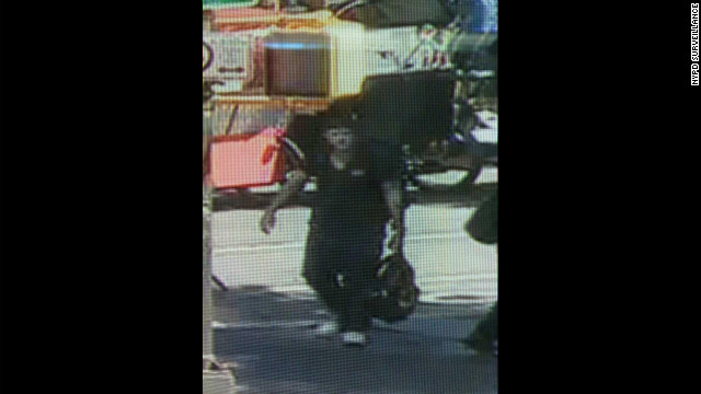 The New York City Police Department used this surveillance photo of the suspect.