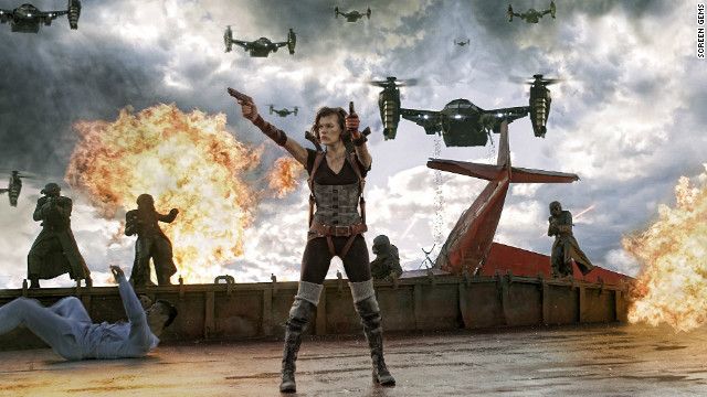 """Resident Evil: Retribution"" topped the weekend box office."