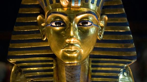 King Tutankhamun's golden mask displayed at the Egyptian museum in Cairo.