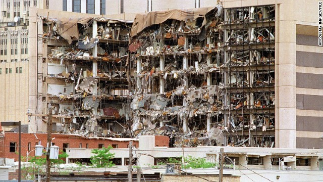 Image result for Photos and depictions of Oklahoma bombing