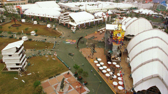 A bomb exploded in Centennial Olympic Park during the Summer Games in Atlanta in 1996. One person was killed, another person died from a heart attack, and 111 others were injured. Eric Robert Rudolph was captured in Murphy, North Carolina, in May 2003 after one of the largest manhunts in U.S. history. He pleaded guilty to the Olympics bombing and to the 1998 bombing of a family planning clinic in Birmingham, Alabama, that killed a police officer and two 1997 bombings at an abortion clinic and a gay nightclub in Georgia. He is serving four consecutive life sentences plus 120 years for the convictions.