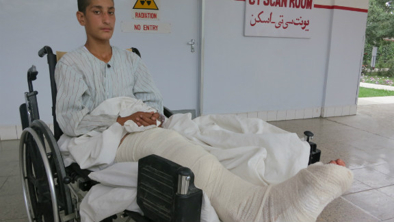 "Naweed Tanha, 17 was badly injured in the blast and is recovering in hospital in Kabul. ""I am so upset for losing my friends,"" Naweed told CNN. ""What kind of people would do this? Why are they continuing to do this? It is ruining our country and our future. """