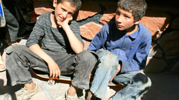 Mohammad Eeza (pictured on the left) was just 13 when he was killed. The Skateistan website says his teachers will remember him as an enthusiastic and keen young student.