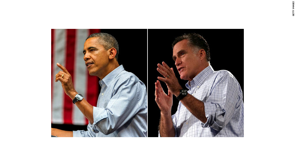 Barack Obama and Mitt Romney will face off three times in person ahead of the 2012 U.S. presidential election on November 6.