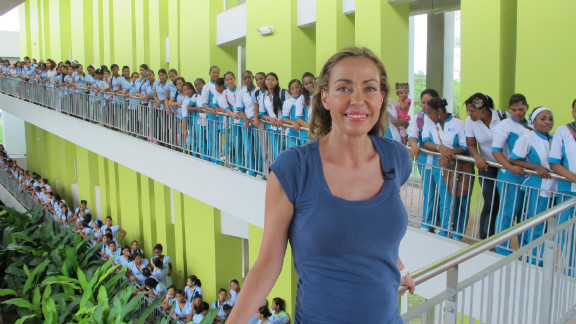 """Catalina Escobar is <a href=""""http://www.cnn.com/2012/08/16/world/americas/cnnheroes-catalina-escobar/index.html"""">helping young moms</a> in Colombia, where one in five girls age 15-19 is or has been pregnant. Since 2002, her foundation has provided counseling, education and job training to more than 2,000 teenage mothers. """"Teenage pregnancy is a world poverty problem, and we have developed models of intervention that break the cycle,"""" Escobar said. """"I want to share it with people around the world."""" <a href=""""http://www.cnn.com/2012/11/26/americas/gallery/heroes-escobar/index.html"""" target=""""_blank"""">See more photos of Catalina Escobar</a>"""