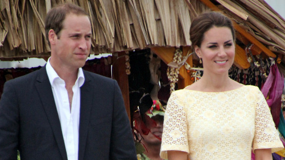 William and his wife were on a nine-day tour of Southeast Asia, seen here arriving in Tuvalu in 2012, when the paparazzi pictures where published.