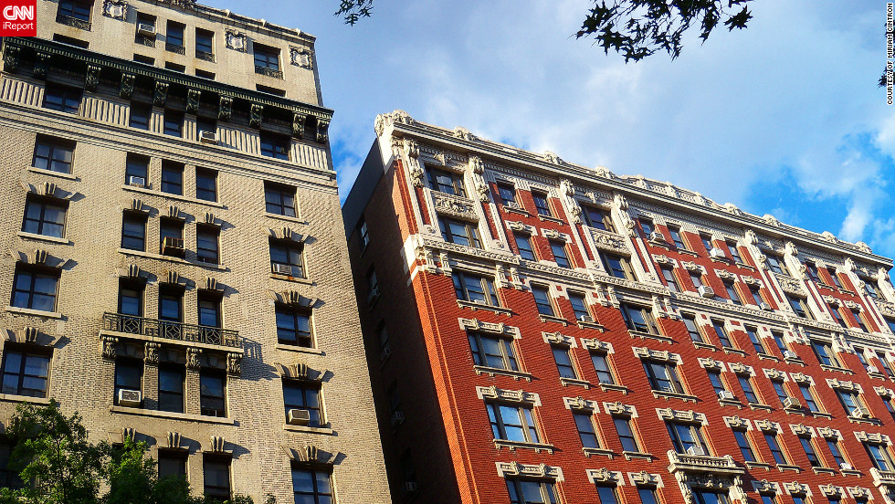 """I love the architectural details of old buildings in New York City,"" says Miriam Cintron. ""There's a gothic look to many of them and the little balconies come as a surprise when you look up. To me, the buildings have a lot more personality and character than the modern, glass enclosed boxes that are the fashion today."""