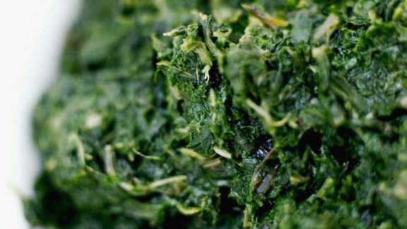 """Spinach is a great source of iron, which is a key component in red blood cells that fuel our muscles with oxygen for energy. But researchers in Sweden recently identified another way in which these greens might keep you charged: Compounds found in spinach actually <a href=""""http://www.sciencedaily.com/releases/2011/02/110201122226.htm"""" target=""""_blank"""" target=""""_blank"""">increase the efficiency of our mitochondria</a>, the energy-producing factories inside our cells. That means eating a cup of cooked spinach a day may give you more lasting power on the elliptical machine (or in your daily sprint to catch the bus)."""