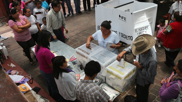 Mexicans casting their ballots on July 1 to vote for the country's next president.