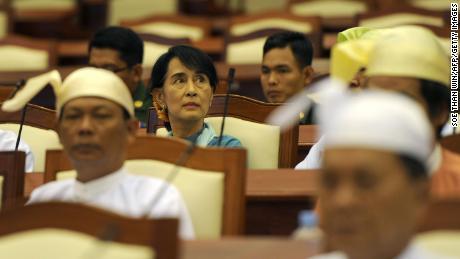 Suu Kyi seen in parliament in November 2012.