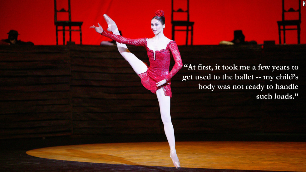 "Svetlana Zakharova: ""At first, it took me a few years to get used to the ballet -- my child's body was not ready to handle such loads."""