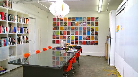 This striking space is a co-working studio specifically for those in the creative industries.