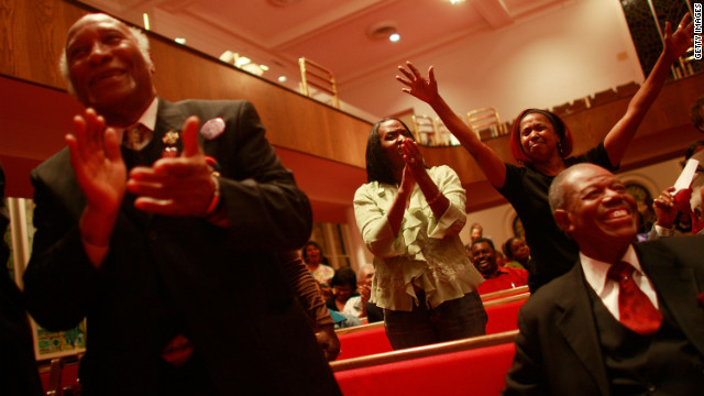 Obama supporters attend a voting rally at Sixteenth Street Baptist Church in Birmingham, Alabama, in 2008.