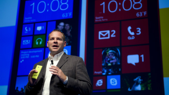HTC's Jason Mackenzie introduces the new 8S and 8X cell phones were unveiled at a news conference in New York.